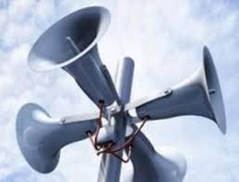 10 апреля 2014 года с 12.44 до 13.23 будет проводиться техническая проверка системы оповещения населения с включением электросирен.